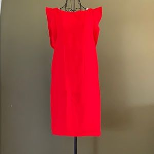 Red evenly dress size small